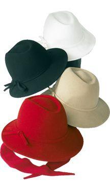 Betmar Felt Scarf Hat Black;Red;Camel