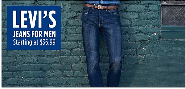 Men's Levi Jeans starting at $36.99
