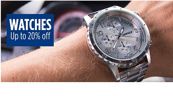 Up to 20% off watches