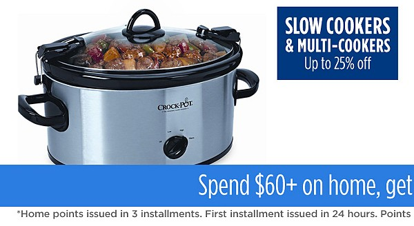 Up to 25% off slow cookers
