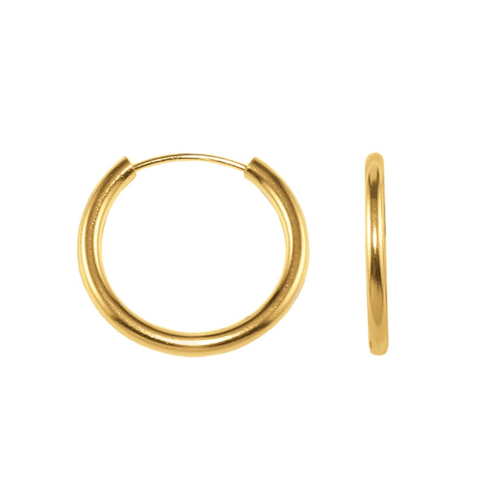 Kmart com Endless 1 5x15MM Round Hoop Earrings 10K Yellow Gold Kmart com