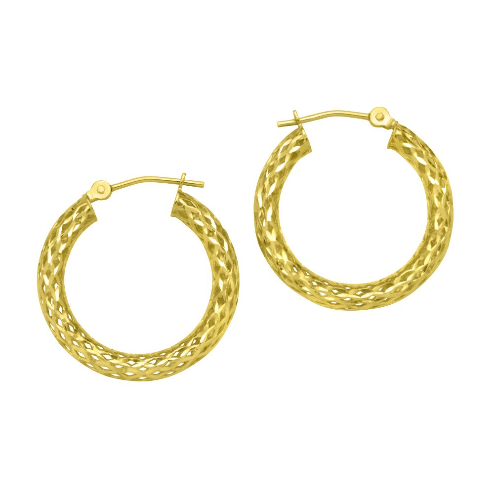 Kmart com 3 X 1MM Mesh Round Diamond Cut Earrings 10K Yellow Gold Kmart com