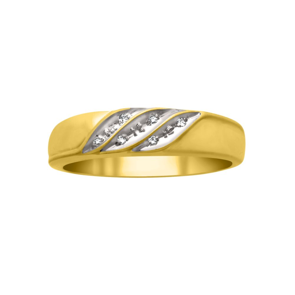 1 33ct tw Diamond Men 39s Wedding Band 10K Yellow Gold Sold by Kmart