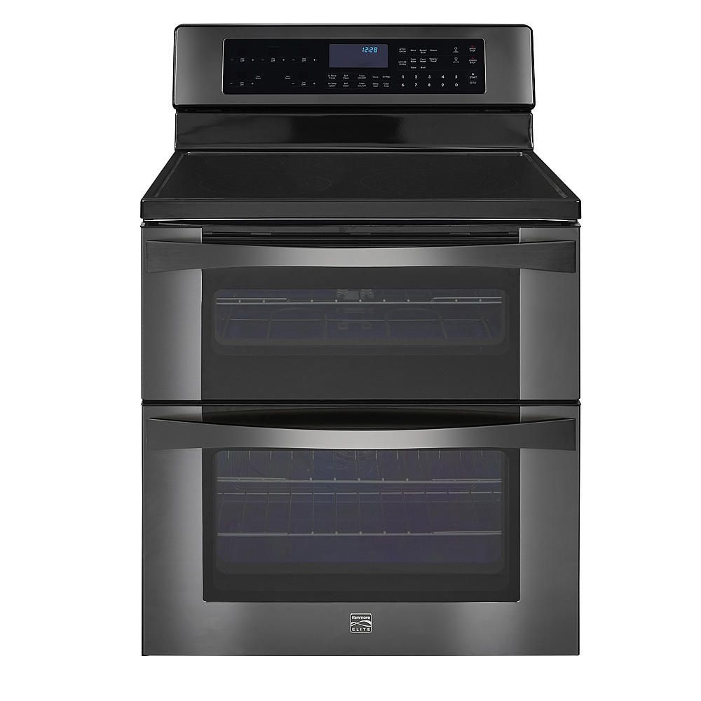 Kenmore Elite 96047 6.7 cu. ft. Electric Double Oven Range - Black Stainless Steel
