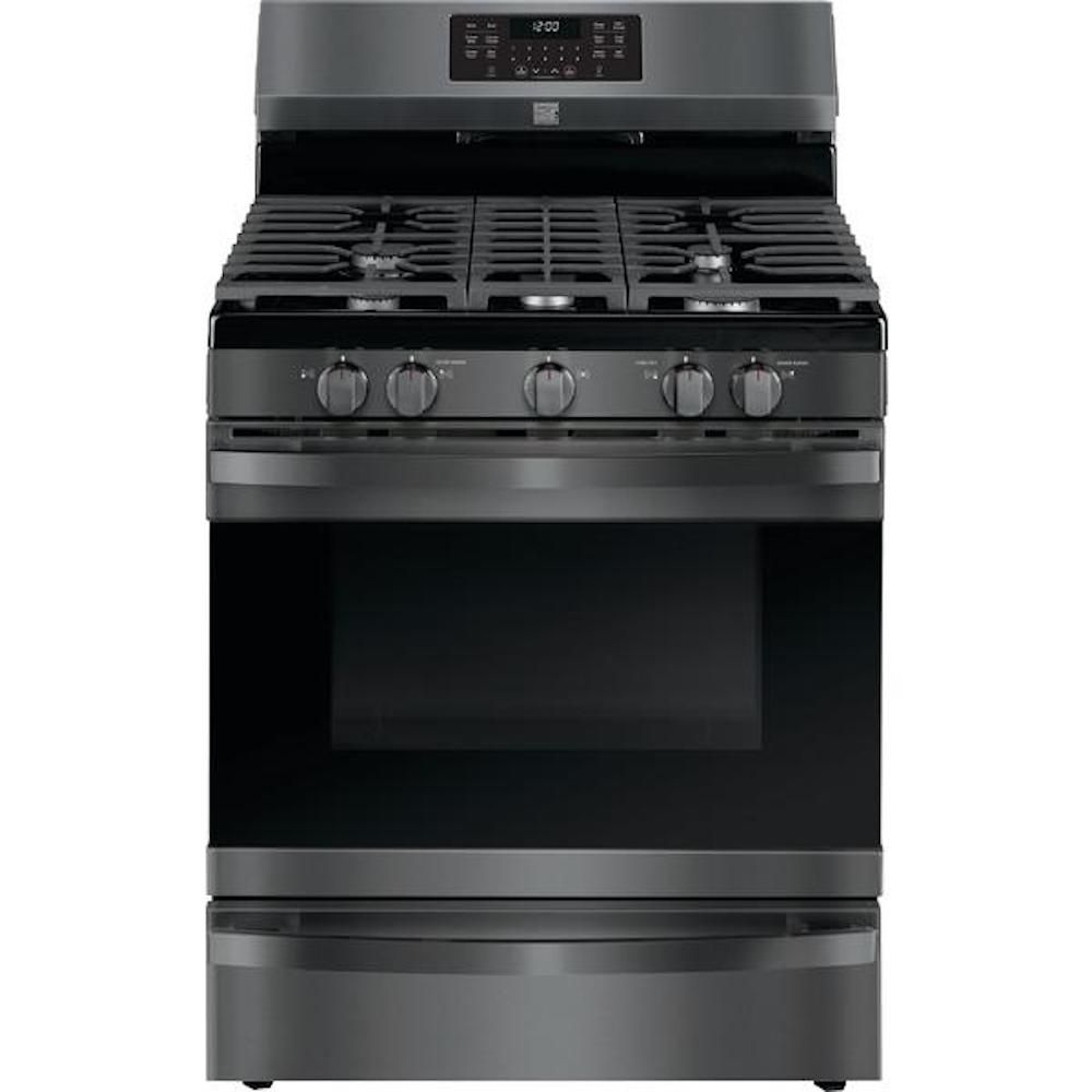 Kenmore Elite 74467 5.6 cu. ft. Gas Range with True Convection - Black Stainless Steel