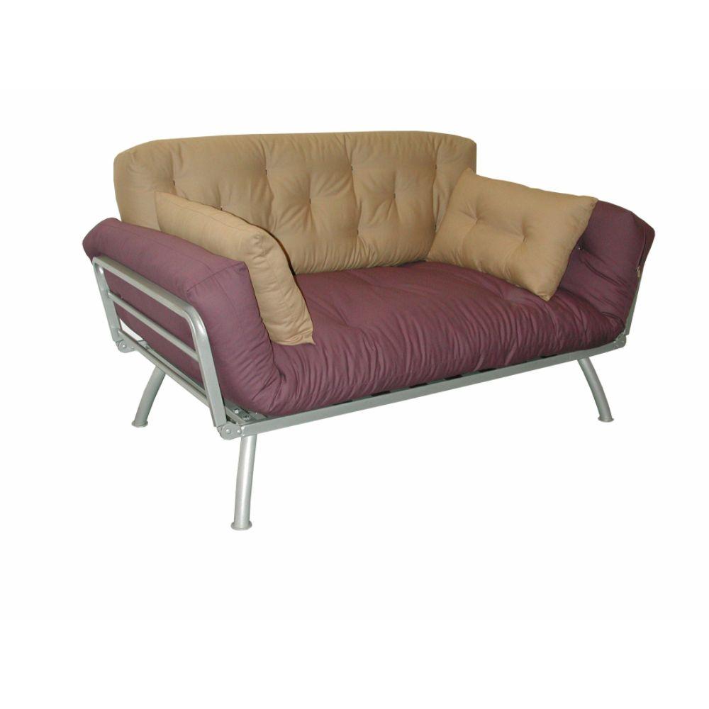 Elite Mali Flex Futon Combo with Aubergine and Caper Cushions ELITE PRODUCTS