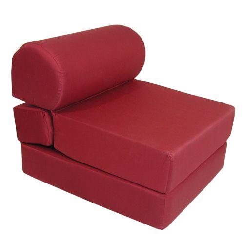 Elite Studio Chair Sleeper Junior Twin 28in Poly Cotton Mattress Elite
