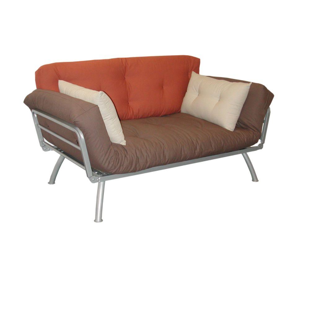Elite Mali Flex Futon Combo with Plank Dusk and Stone Cushions ELITE PRODUCTS