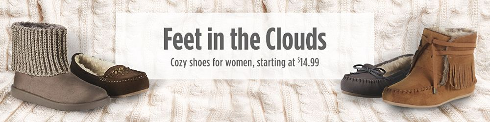 Cozy shoes for women, starting at $14.99