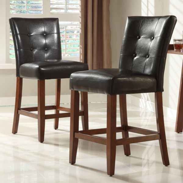 Oxford Creek Tufted-back Vinyl Pub Chairs