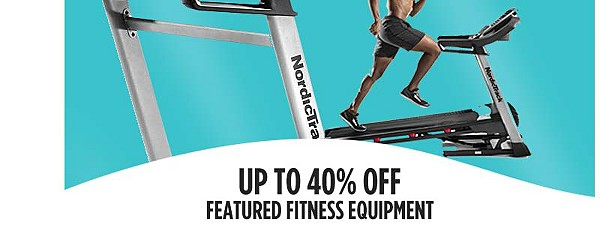 up to 40% off featured fitness equipment
