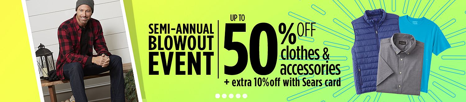 Up to 60% off clothes & accessories