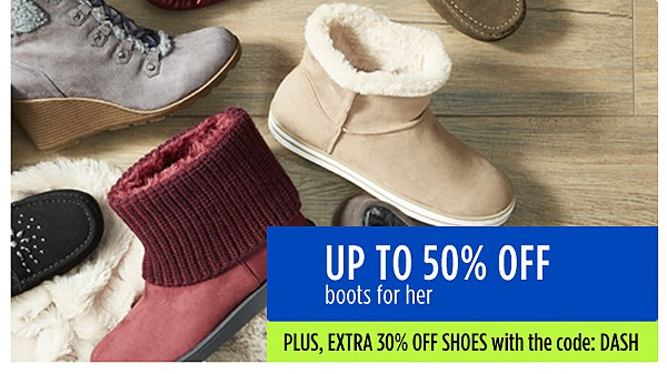 Up to 40% off boots for her