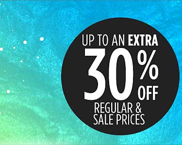 30% off online & in store