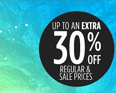 30% off online & in store