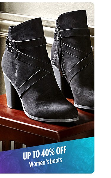 Up to 40% off Women's boots