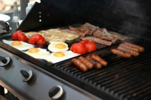 Sear burner on a grill