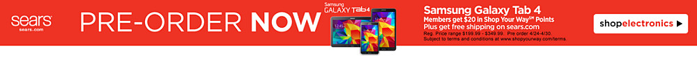 Pre-order the Samsung Galaxy Tab 4