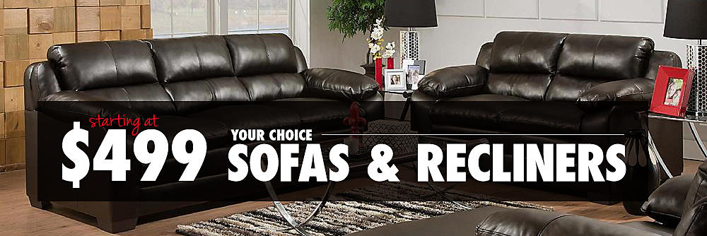 499 Recliners and sofas
