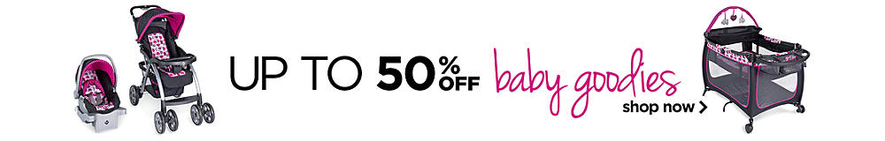 Up to 50% off baby goodies