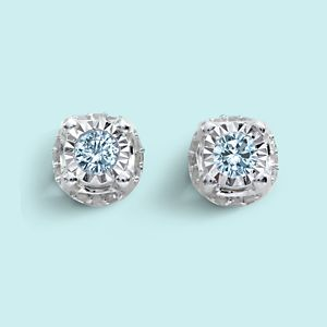 Member Price $299.99 Reg. $1299.99 1/2 cctw. Round Diamond 10K White Gold Stud Earrings