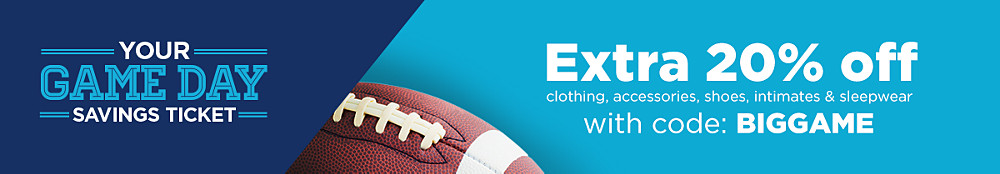 Extra&#x20&#x3b;20&#x25&#x3b;&#x20&#x3b;off&#x20&#x3b;clothing,&#x20&#x3b;accessories,&#x20&#x3b;lingerie,&#x20&#x3b;sleepwear&#x20&#x3b;&amp&#x3b;&#x20&#x3b;shoes&#x20&#x3b;with&#x20&#x3b;code&#x3a&#x3b;&#x20&#x3b;BIGGAME