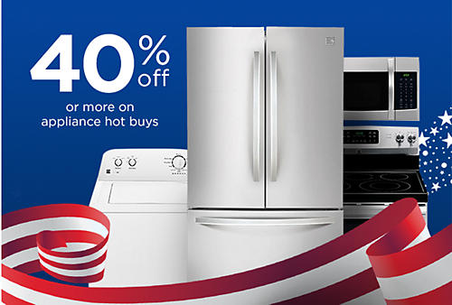 40% off or more appliance hot buys