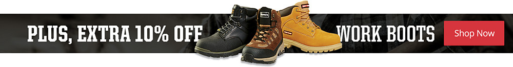 Members save an extra 10% on work boots
