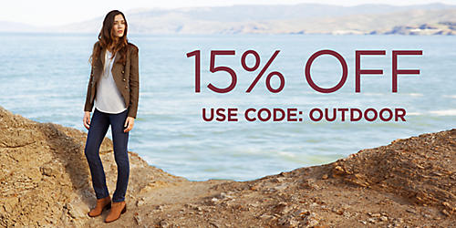 15% off fashionable outdoor clothing