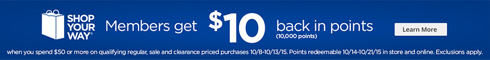 Get $10 back in points