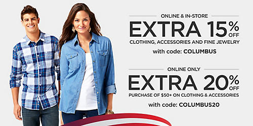 Up to 50% off fall fashions