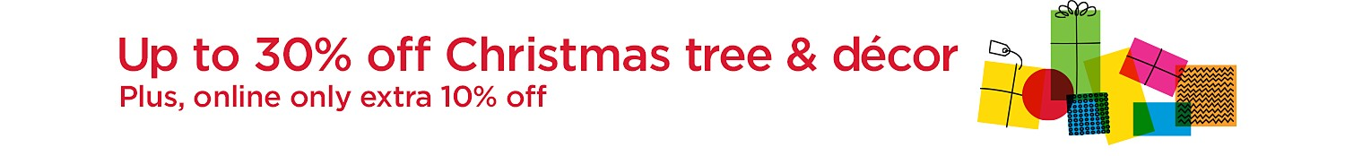 Up to 30% off Christmas Trees & Decor