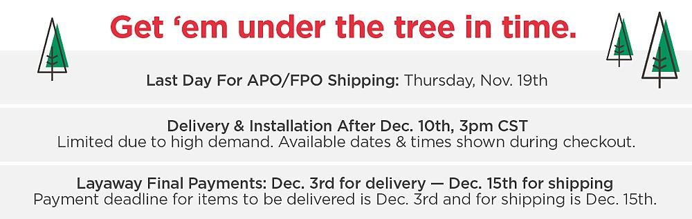Sears Holiday shipping