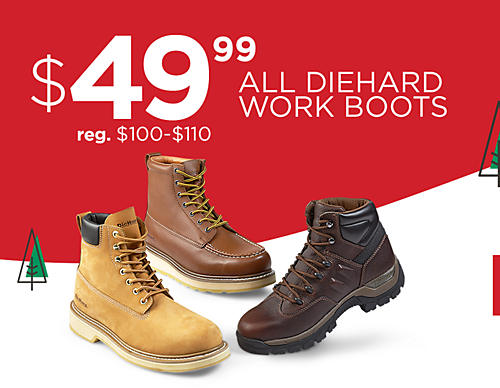Men's DieHard work boots on sale at $49.99