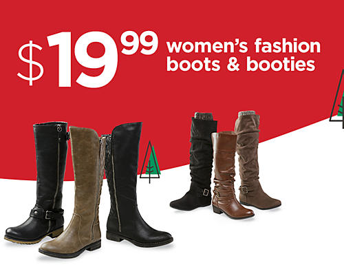 Women's boots at $19.99