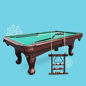 MD Sports 7.5' Springdale Billiard Table with accessories