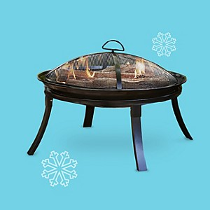 BBQ Pro 24 in. Round Folding Firepit