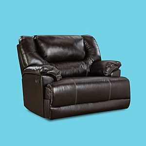Simmons Upholstery Bentley Brown Cuddley Recliner