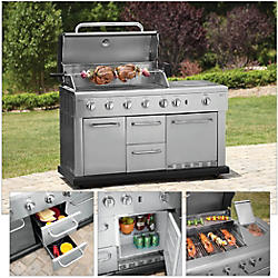 kenmore elite grill island. kenmore 5-burner island gas grill with refrigerator: #20153 elite