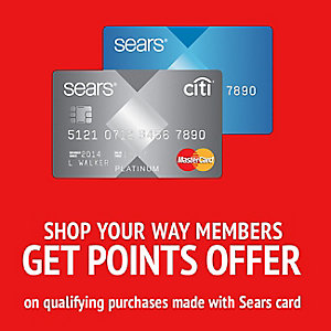 Sears Mastercard ® with Shop Your Way. Apply Now» Special Offer Earn $40 back as a statement credit. Spend $50 on eligible purchases in the first 30 days after you are approved for a new Sears Mastercard ® and get $40 back 3 as a statement credit. Excludes deferred interest and .