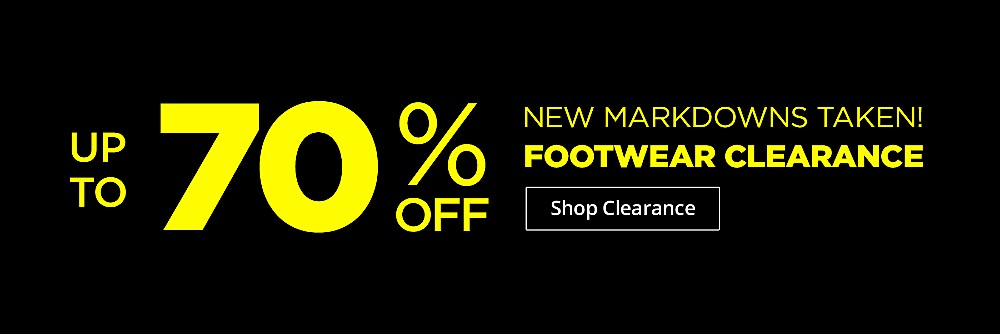 Up to 70% off footwear clearance