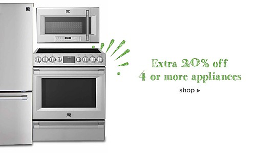 Extra 10% off 2-3 appliances, Extra 20% off 4+ appliances, use code: BUYMORE
