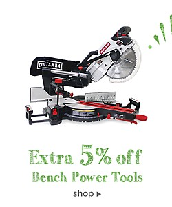 extra 5% off bench power tools