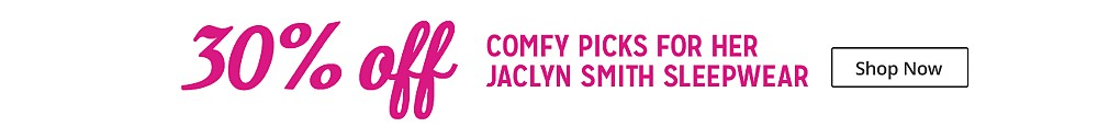 30% off Jaclyn Smith Sleepwear