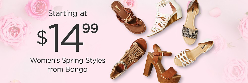 Womens Bongo sandals starting at $14.99