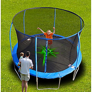 12' outdoor lighted trampoline, $209.99
