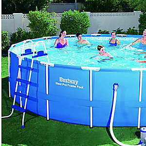 "18'x48"" steel-frame pool set, $339.99"