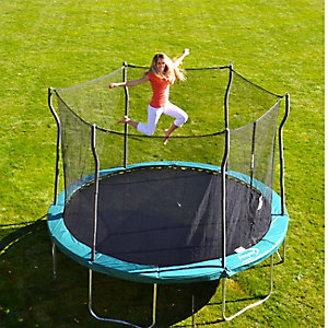 12' trampoline with enclosure, $189.99
