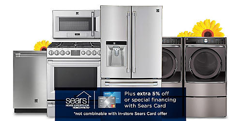 Save up to 30% on Kenmore appliances
