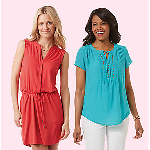 Save up to 55% on fashions for her